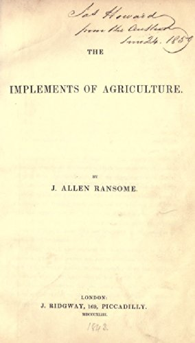 9781462205110: The Implements of Agriculture: