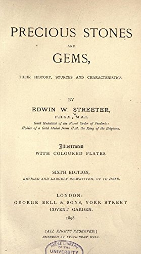 9781462206575: Precious Stones and Gems, Their History, Sources and Characteristics