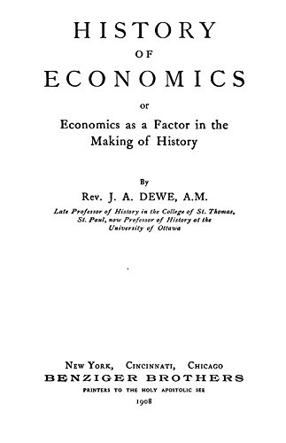 9781462212712: History of Economics: Or, Economics as a Factor in the Making of History