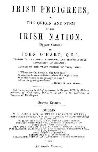 9781462215621: Irish Pedigrees: Or, The Origin and Stem of the Irish Nation