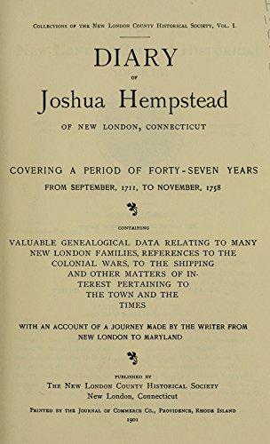 9781462224548: Diary of Joshua Hempstead of New London, Connecticut