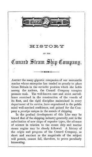 9781462228461: History of the Cunard Steamship Company: