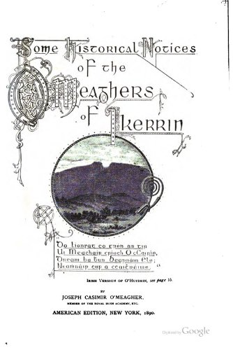 9781462231201: Some Historical Notices of the O'Meaghers of Ikerrin:
