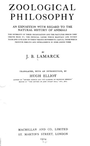 9781462246779: Zoological Philosophy An Exposition With Regard to the Natural History of Animals