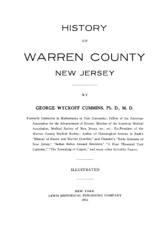 9781462252244: History of Warren County, New Jersey