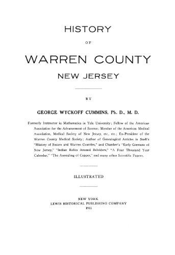 9781462252244: History of Warren County, New Jersey