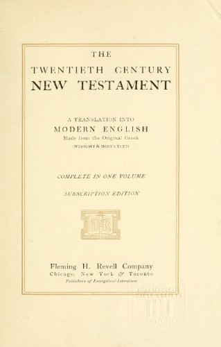 9781462252695: The Twentieth Century New Testament