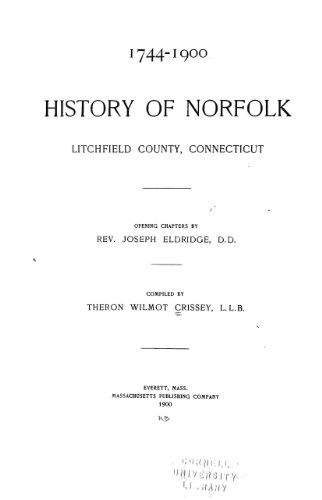 9781462253357: History of Norfolk, Litchfield County, Connecticut