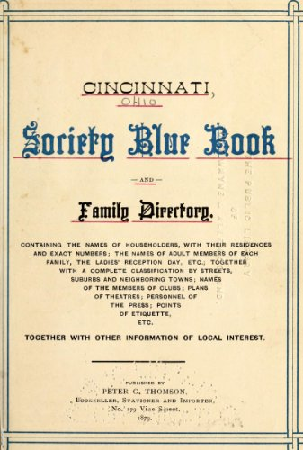 9781462254682: Cincinnati Society Blue Book and Family Directory