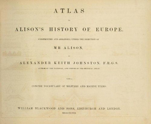 9781462261680: Atlas to Alison's History of Europe