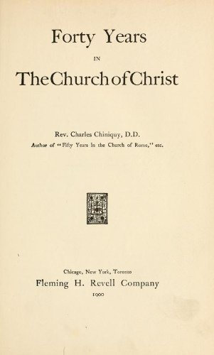 9781462265831: Forty Years in the Church of Christ