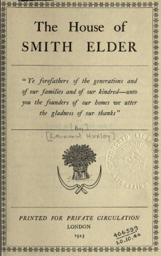 9781462270958: The House Of Smith Elder