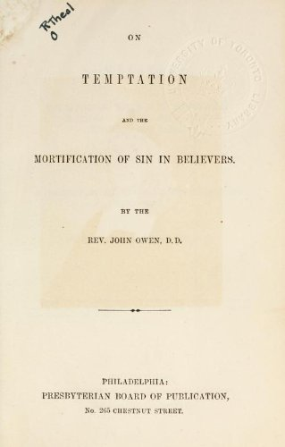 9781462274338: On Temptation and The Mortification of Sin in Believers