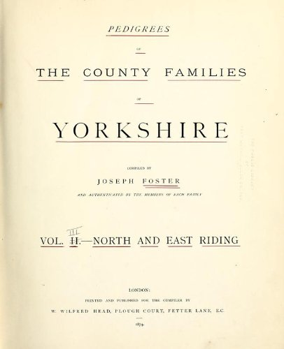 9781462275670: Pedigrees of the County Families of Yorkshire