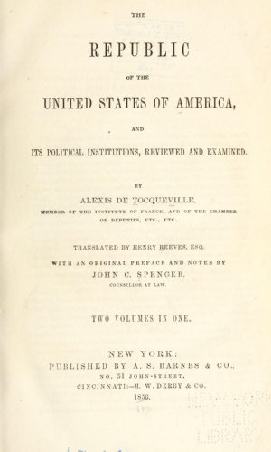 9781462279661: The Republic of the United States of America And its Political Institutions, Reviewed and Examined
