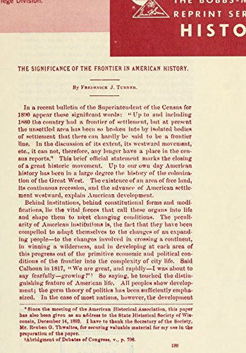 9781462280377: The Significance of The Frontier In American History: