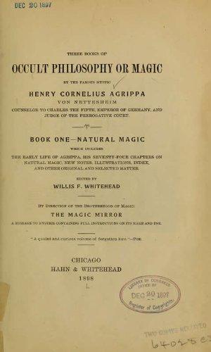 9781462282654: Three Books Of Occult Philosophy Or Magic