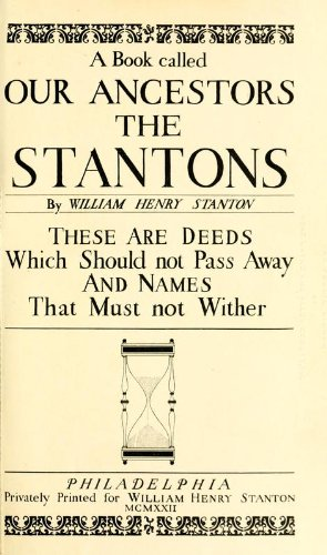 9781462287796: A Book Called Our Ancestors The Stantons