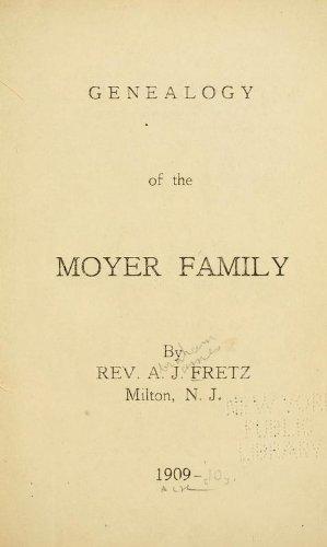 9781462290321: Genealogy Of The Moyer Family