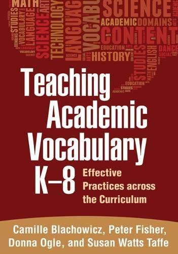 9781462510290: Teaching Academic Vocabulary K-8: Effective Practices across the Curriculum