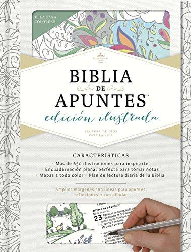 9781462746521: Rvr 1960 Biblia de Apuntes, Edicion Ilustrada, Blanco En Tela Para Colorear