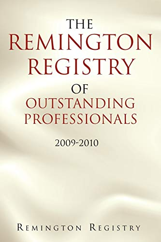 9781462863716: The Remington Registry of Outstanding Professionals: 2009-2010