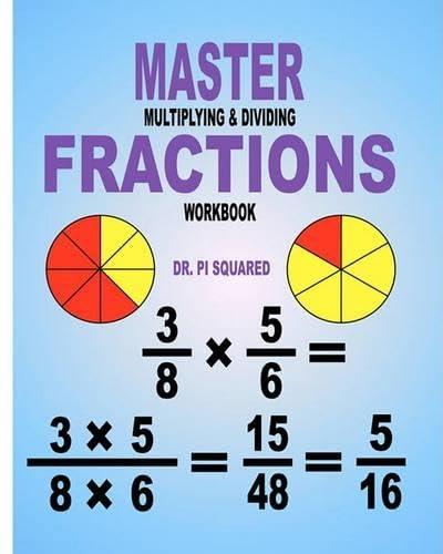9781463554606: Master Multiplying & Dividing Fractions Workbook