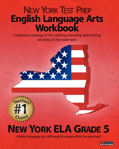 9781463648381: NEW YORK TEST PREP English Language Arts Workbook, New York ELA, Grade 5