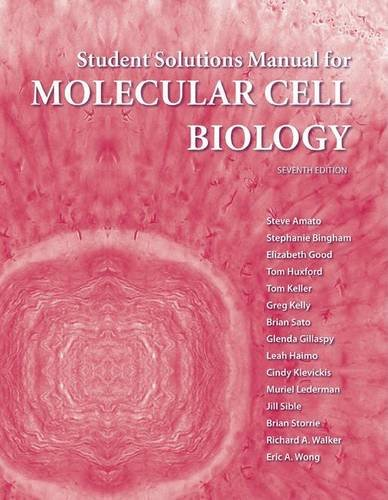 9781464102301: Solutions Manual for Molecular Cell Biology