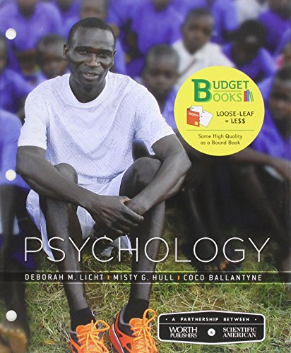 Loose-leaf Version for Scientific American: Psychology (Budget: Hull, Misty; Licht,
