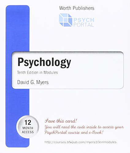 9781464110481: Psychology Tenth in Modules ACCESS CODE (Cleveland State Community College) by David G. Myers (2013-05-04)