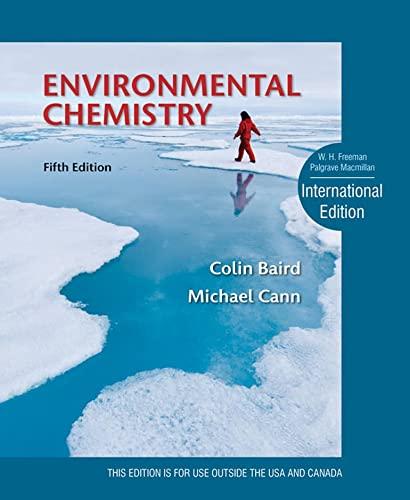 9781464113499: Environmental Chemistry (International Edition)