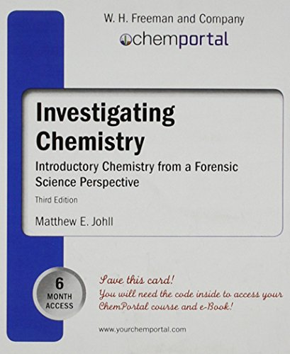 ChemPortal for Investigating Chemistry (6-month access card): Johll, Matthew