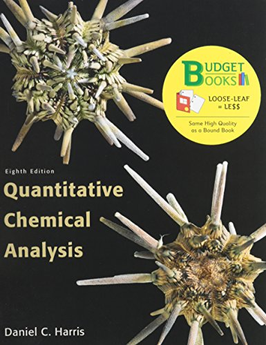 9781464114687: Quantitative Chemical Analysis Budget Book (Looseleaf) & Sapling Learning 6 Month Access