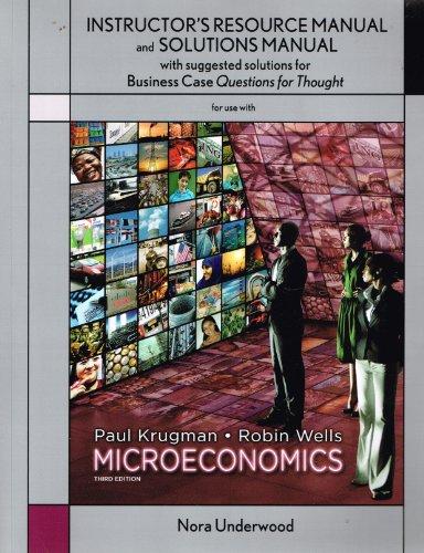 solutions manual microeconomics by paul krugman robin wells abebooks rh abebooks com
