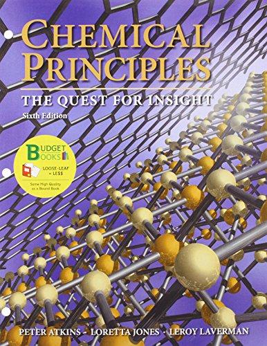 Loose-leaf Version for Chemical Principles (1464124663) by Peter Atkins; Loretta Jones