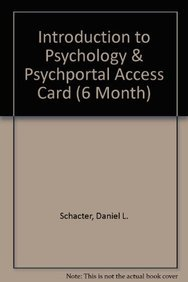 9781464130649: Introduction to Psychology & PsychPortal Access Card (6 Month)