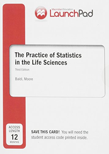 9781464133145: LaunchPad for Moore's The Practice of Statistics in the Life Sciences (Twelve Month Access)