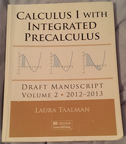9781464137143: Calculus I with Integrated Precalculus