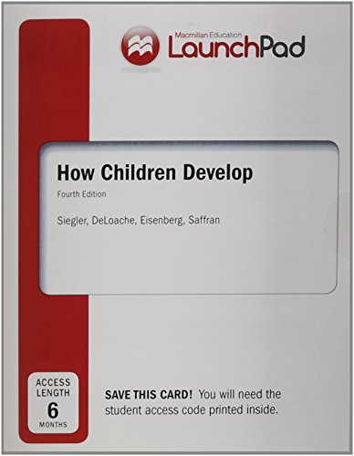 9781464139529: LaunchPad for Siegler's How Children Develop (Six Month Access)