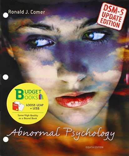 Abnormal Psychology (Loose Leaf) with Diagnostic Statistical Manual Update: Comer, Ronald J.