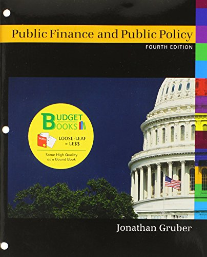 9781464142154: Public Finance and Public Policy (Loose Leaf) (Budget Books)