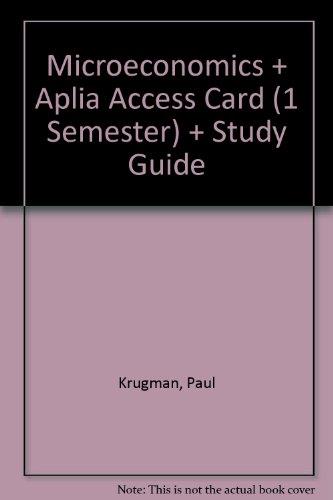 Paul krugman used books rare books and new books page 8 microeconomics loose leaf aplia access card 1 semester study fandeluxe Choice Image