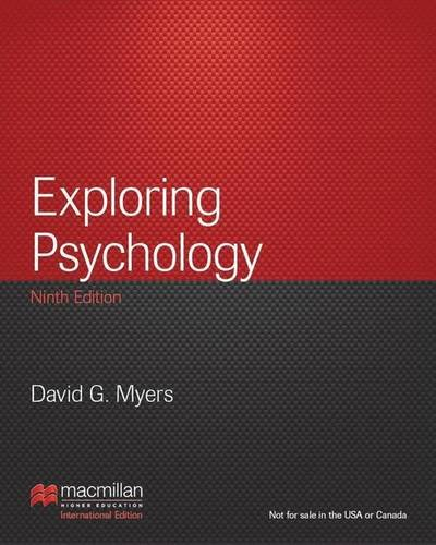 9781464147050: Exploring Psychology: International Edition