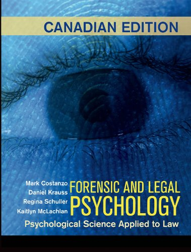 9781464149016: Forensic and Legal Psychology (Canadian Edition)