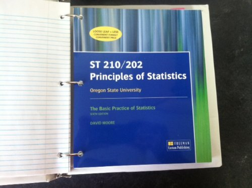 9781464149498: ST 201/202 Custom for Oregon State University