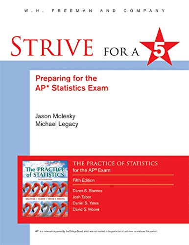 9781464154003: Preparing for the Ap Statistics Examination to Accompany the Practice of Statistics (Strive for 5)