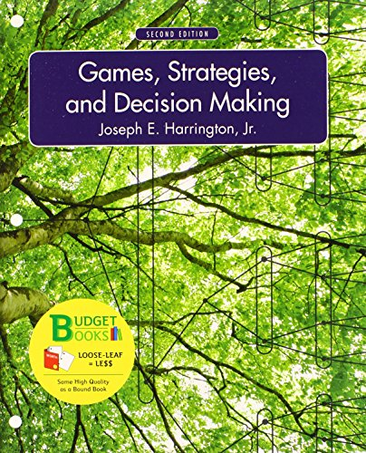 9781464156830: Loose-leaf Version of Games, Strategies, and Decision Making