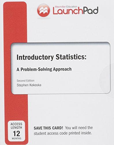 9781464157615: LaunchPad for Kokoska's Introductory Statistics (Twelve Month Access)