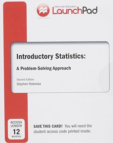 9781464157615: LaunchPad for Kokoska's Introductory Statistics (Twelve Month Access)